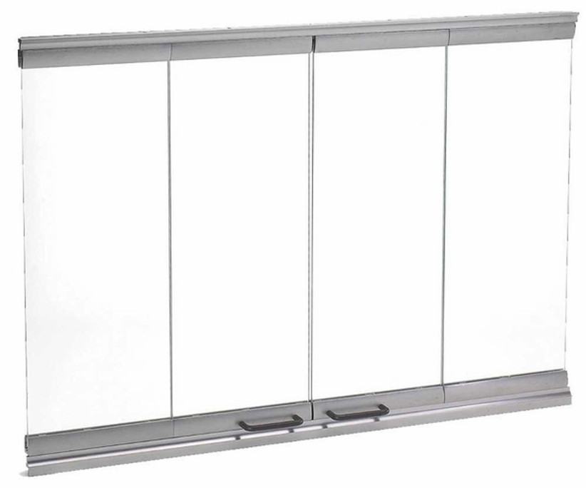 Majestic DM1036S Bi-Fold Glass Doors with Stainless Steel Trim