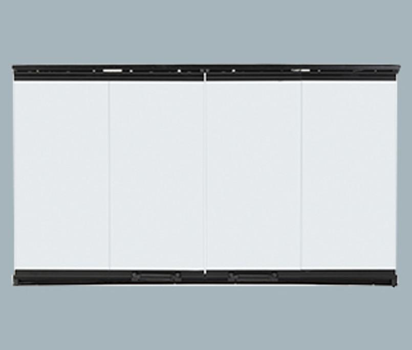 Majestic Bi-Fold Glass Doors with Black Trim - DM1036