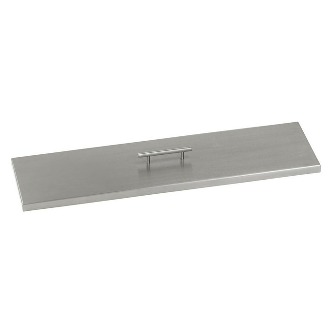 American Fireglass Stainless Steel Cover for Linear Drop-In Fire Pit Pan