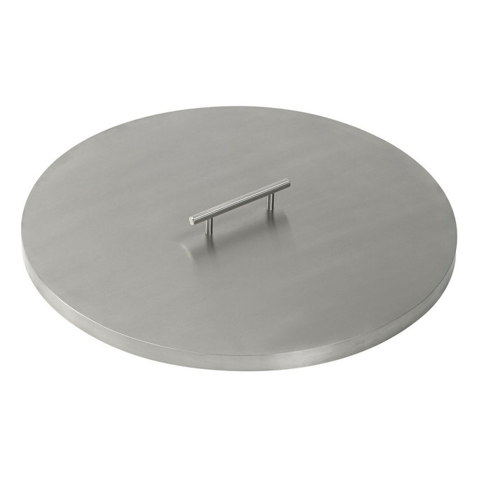 American Fireglass Stainless Steel Cover for Round Drop-In Fire Pit Pan