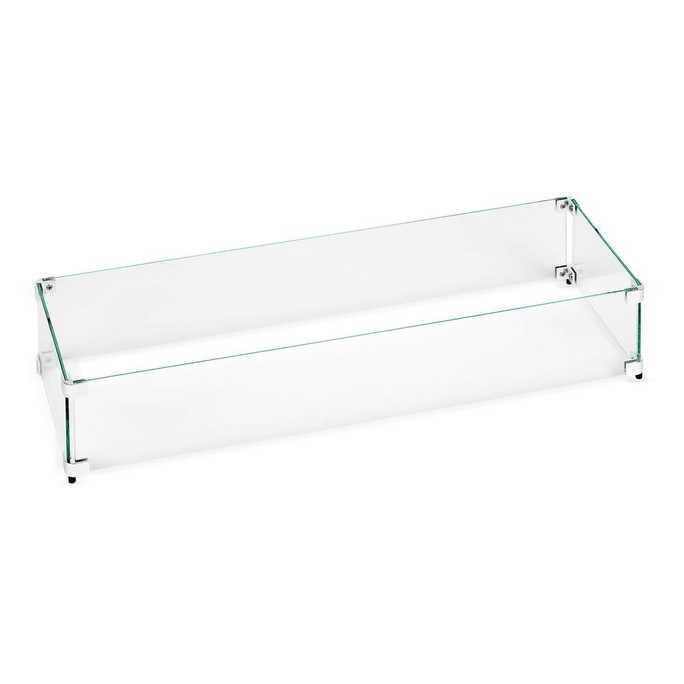 American Fireglass Linear Glass Flame Guard for Linear Drop-In Fire Pit Pan (FG-LCB)