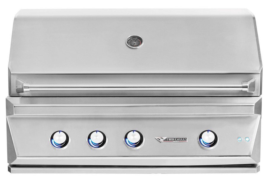 Twin Eagles 42 Inch Outdoor Gas Grill with Infrared Rotisserie and Sear Zone