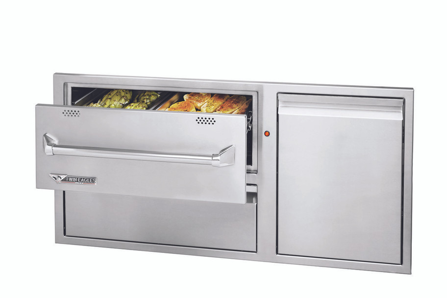 Twin Eagles 42 Inch Warming Drawer Combo