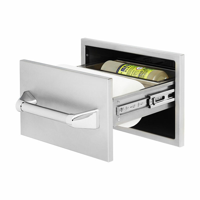 Twin Eagles 15 Inch Paper Towel Holder with Towel Bar and Compartment