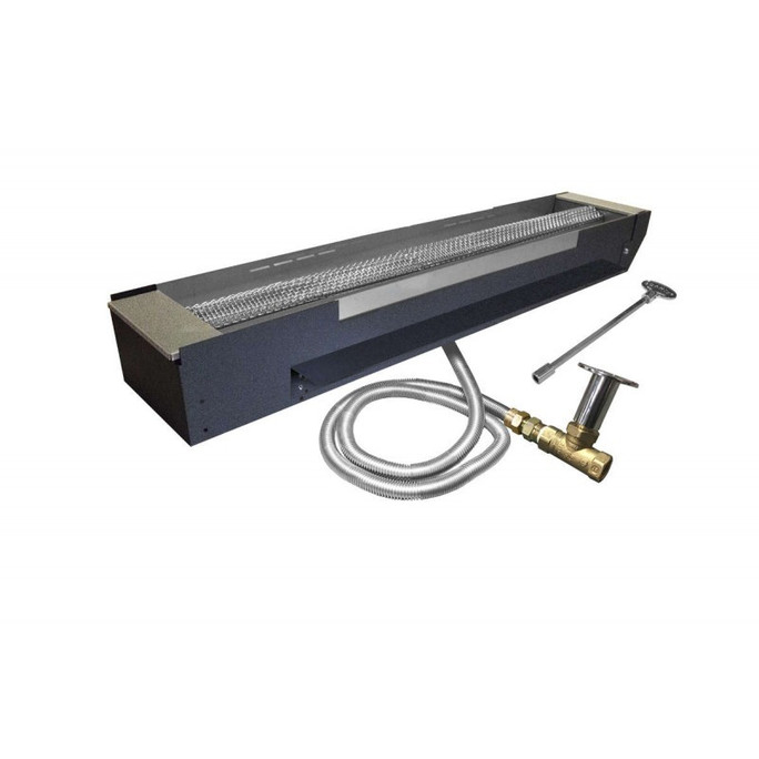 Firegear UL Listed Match Light Gas Fire Pit Burner Kit, Linear Trough Pan 36 Inch
