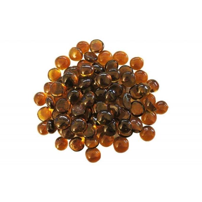 Firegear Pound Fire Glass Beads, 16 to 18mm, Gold