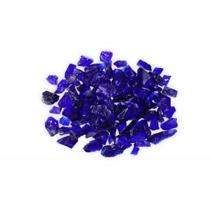 Firegear Pound Broken Large Fire Glass, 1/2 to 3/4-inch, Dark Blue