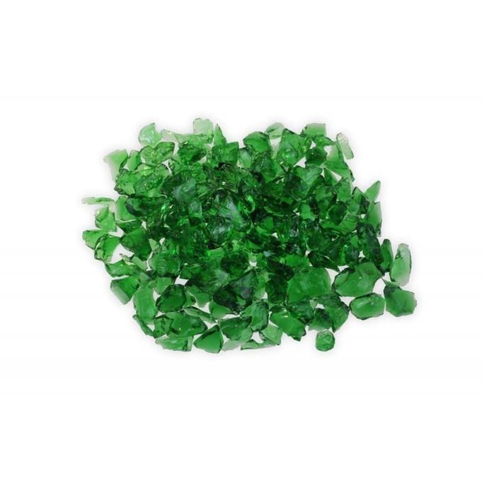 Firegear Pound Broken Large Fire Glass, 1/2 to 3/4-inch, Green