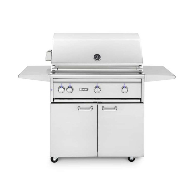 Lynx 36 Inch Freestanding All Trident Grill with Flametrak and Rotisserie