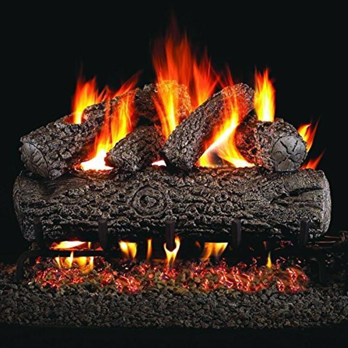 Real Fyre Post Oak Vented Gas Logs (PO-24), 24-Inch