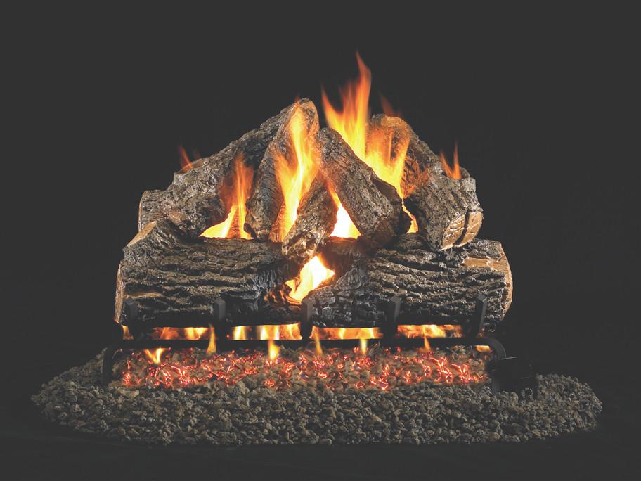 Real Fyre Charred Oak Vented Gas Logs (CHD-24), 24-Inch