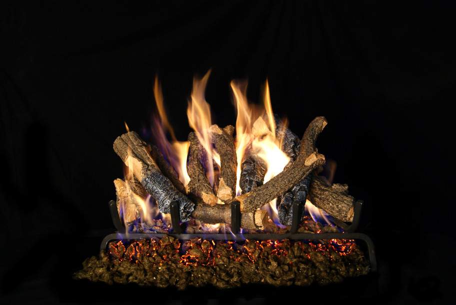 Real Fyre Charred Oak Stack Vented Gas Logs (CHDS-24), 24-Inch