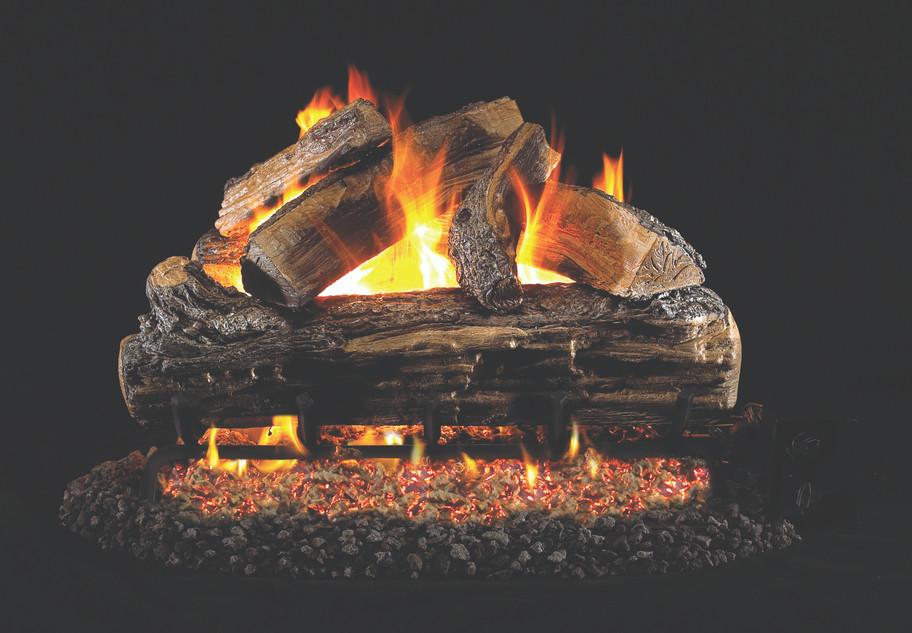 Real Fyre Split Oak Vented Log Set (S-18), 18-Inch