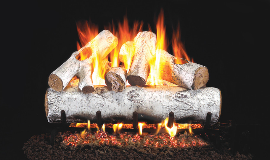 Real Fyre Standard White Birch Vented Gas Logs (W-18) - 18 Inch