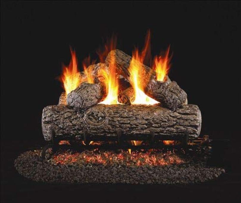 Real Fyre Golden Oak Vented Gas Logs (R-42), 42-Inch