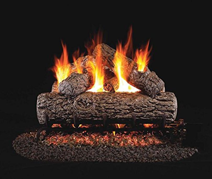 Real Fyre Golden Oak Vented Gas Logs (R-19), 19-Inch