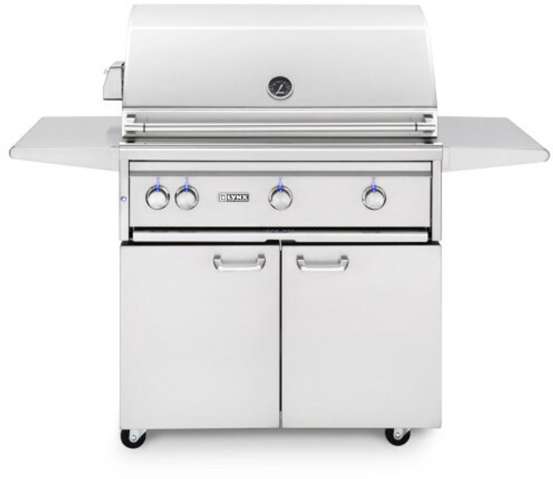 """Lynx 36"""" Freestanding Grills- 1 Trident with Rotisserie"""