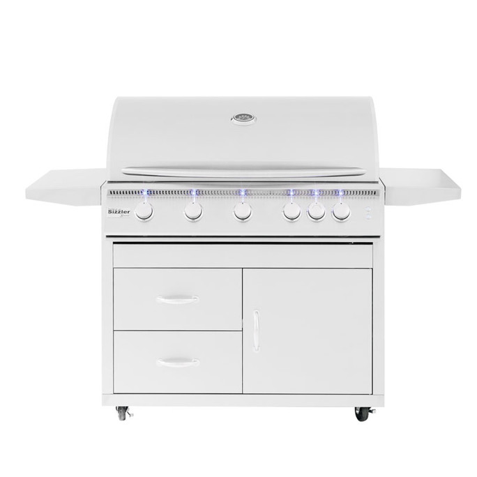 """Pro Series Fully Assembled Door & 2-Drawer Combo Cart for 40"""" Sizzler & Sizzler Pro (CART-SIZ40-DC)"""