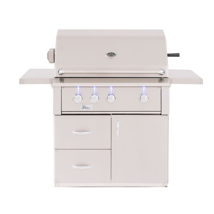 "Fully Assembled Deluxe Door & 2-Drawer Combo Grill Cart for 36"" Alturi (CART-ALT36)"
