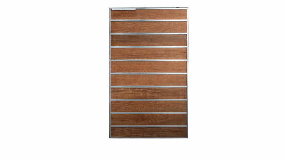 """Madera 20x34"""" Integrated Norther American Stainless Steel & Teak Vertical Dry Storage Pantry (SSMP-20V-TK)"""