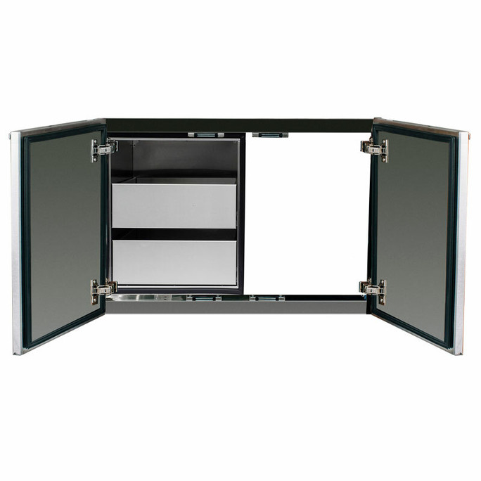 """Madera 30"""" Integrated North American Stainless Steel & Ipe Dry Storage 2-Drawer & Access Door Combo (SSMDP-30AC-IP)"""