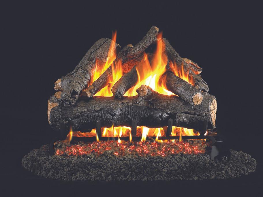 Real Fyre American Oak Vented Gas Logs (AO-24), 24-Inch