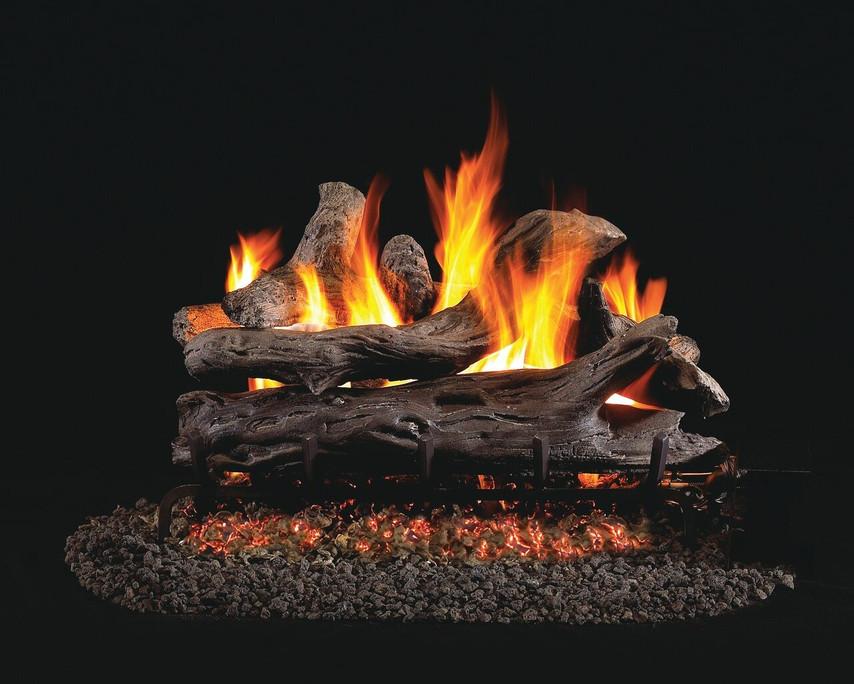 Real Fyre See-Thru Coastal Driftwood Vented Gas Logs (CDR-2-24), 24-Inch