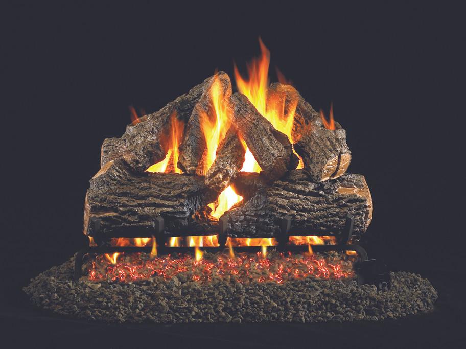 Real Fyre Charred Oak Vented Gas Logs (CHD-30), 30-Inch