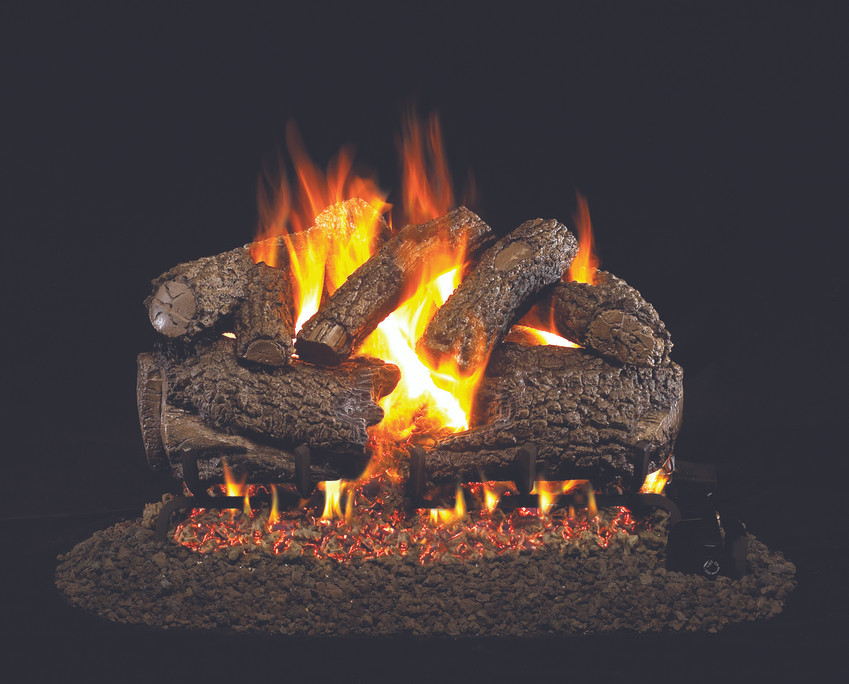 Real Fyre Charred Forest Oak Vented Gas Logs (CHF-30), 30-Inch