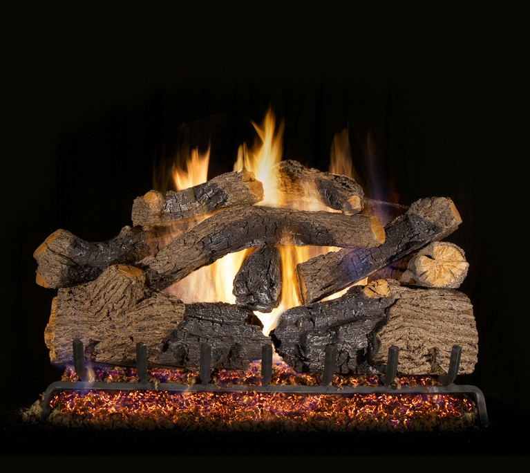 Real Fyre Charred Grizzly Oak Vented Gas Logs (CHGO-24), 24-Inch