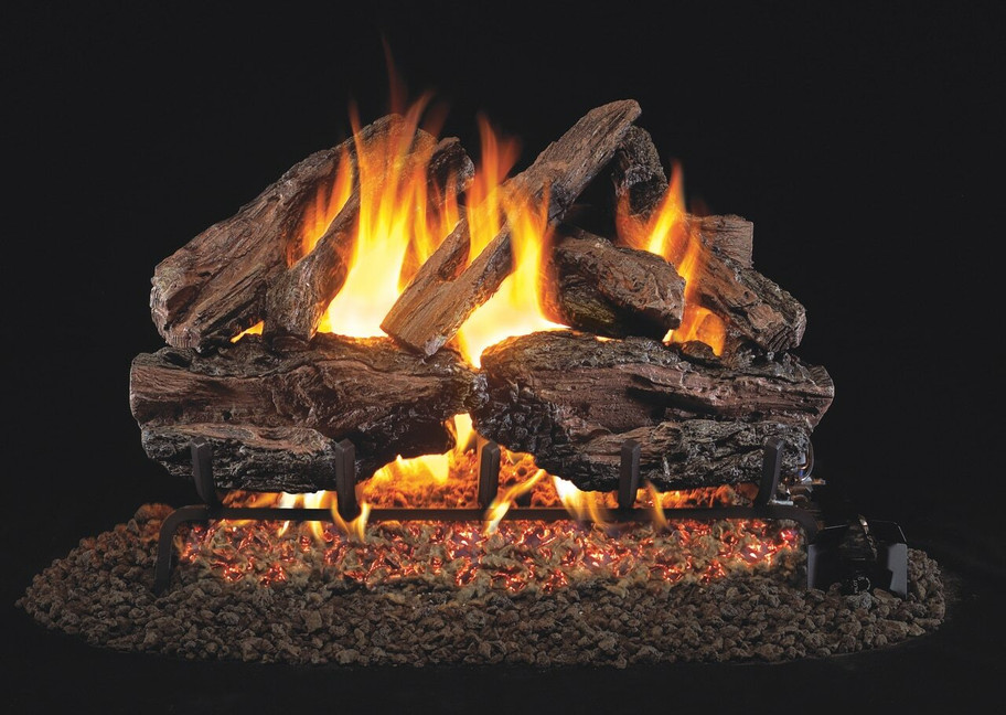 Real Fyre Charred Red Oak Vented Gas Logs (CHRED-30), 30-Inch