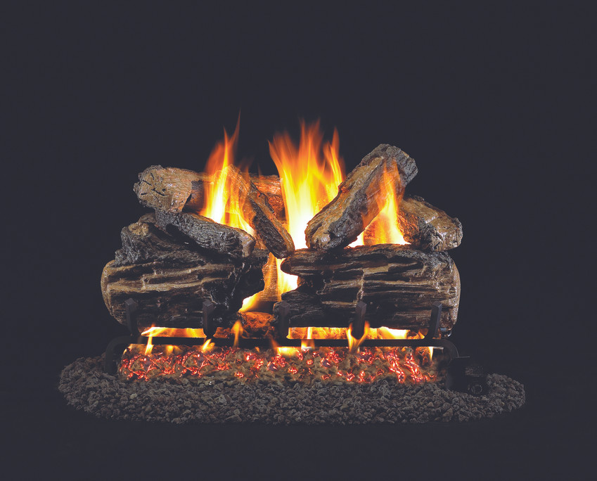 Real Fyre Charred Split Vented Gas Logs (CHS-30), 30-Inch