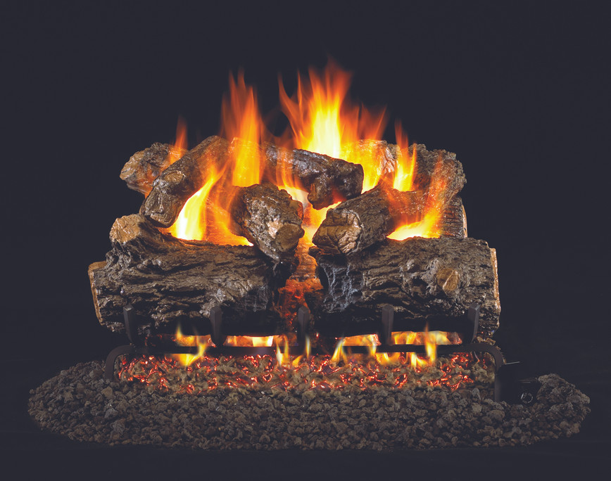 Real Fyre Burnt Rustic Oak Vented Gas Logs (HCHR-16), 16-Inch
