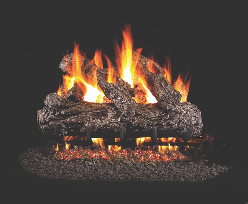 Real Fyre Rustic Oak Vented Gas Logs (HR-30), 30-Inch