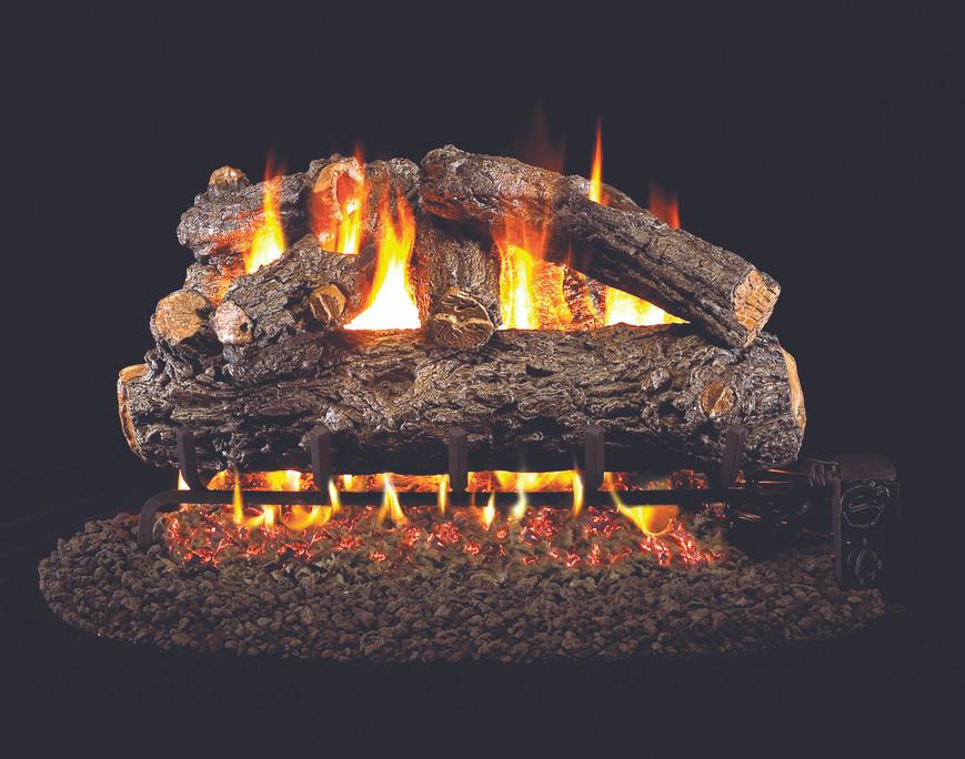 Real Fyre Rustic Oak Designer Vented Gas Logs (HRD-18), 18-Inch