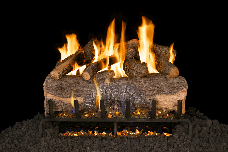 Real Fyre Mountain Crest Oak Vented Gas Logs (MCO-33), 33-Inch