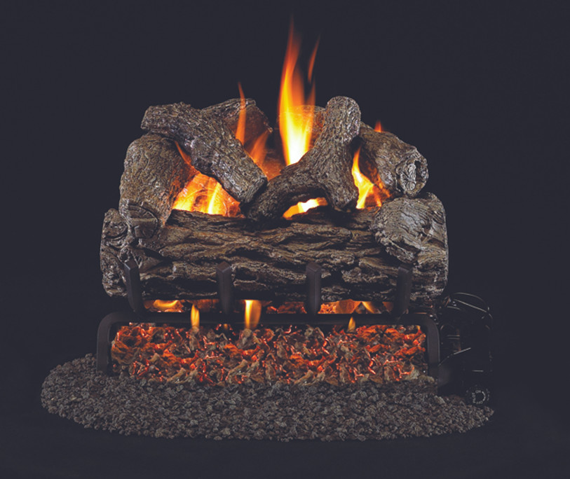 Real Fyre Golden Oak Vented Gas Logs (R-12), 12-Inch