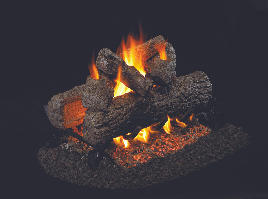 Real Fyre See-Thru Golden Oak Vented Gas Logs (R-2-19), 19-inch