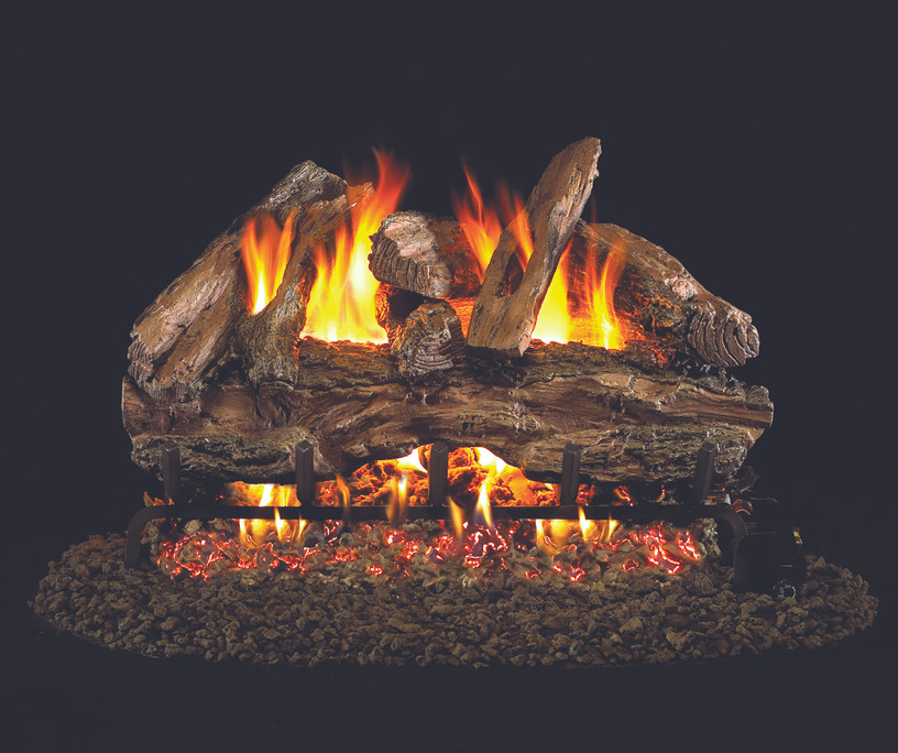 Real Fyre Red Oak Vented Gas Logs (RED-18), 18-Inch