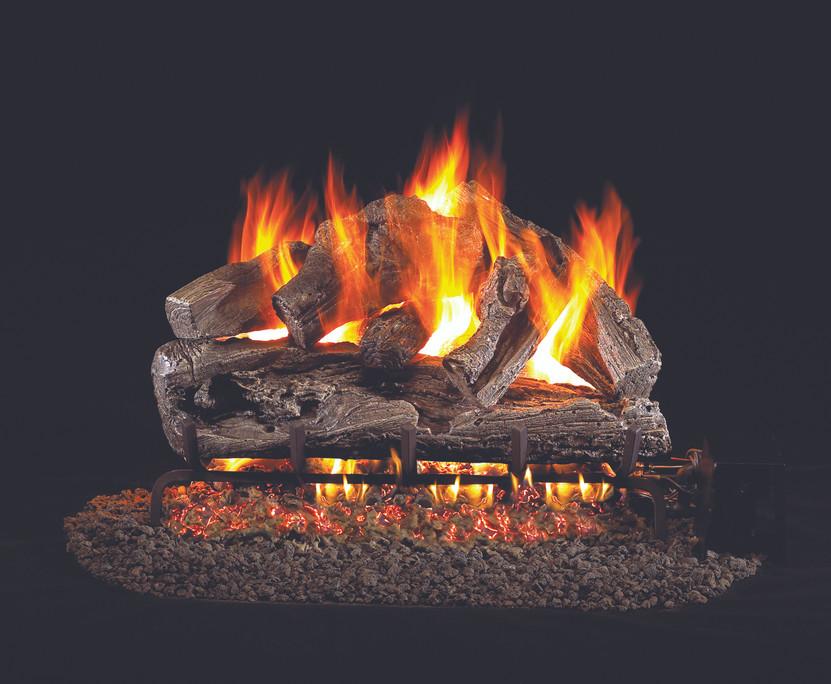 Real Fyre Rugged Oak Vented Gas Logs (RRO-18), 18-Inch