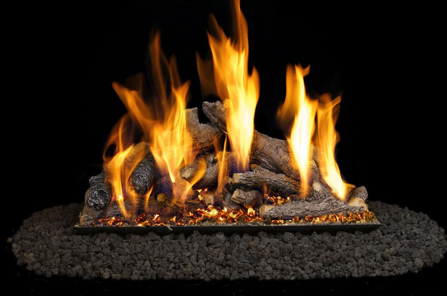 Real Fyre Shoreline Designer Oak Vented Gas Logs (SO-30), 30-Inch