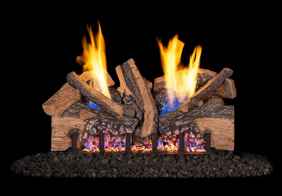 Real Fyre Foothill Split Oak Vent-Free Gas Logs (FTSO-18), 18-Inch