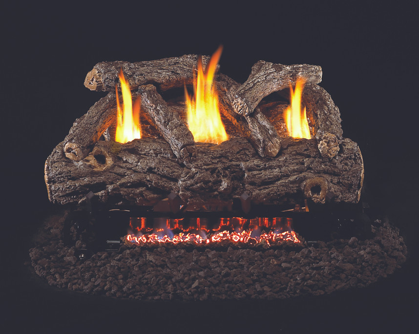 Real Fyre Golden Oak Designer Vent-Free Gas Logs (RD9-30), 30-Inch
