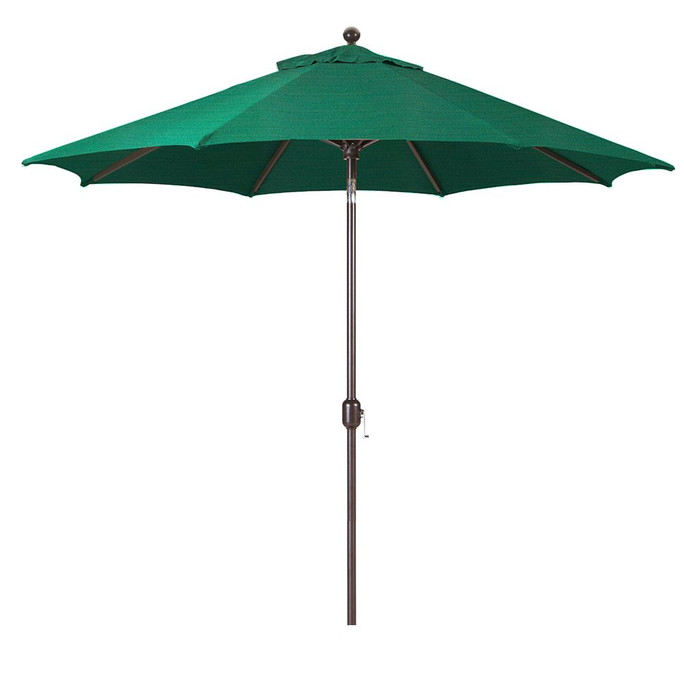 Galtech 9-Foot (Model 737) Deluxe Auto-Tilt Umbrella with Antique Bronze Frame and Sunbrella Fabric Forest Green
