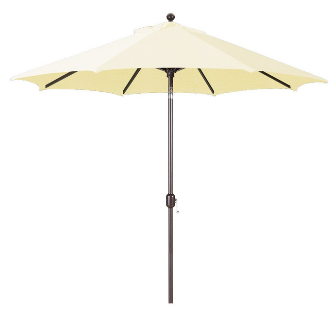 Galtech 9-Foot (Model 737) Deluxe Auto-Tilt Umbrella with Antique Bronze Frame and Sunbrella Fabric Natural