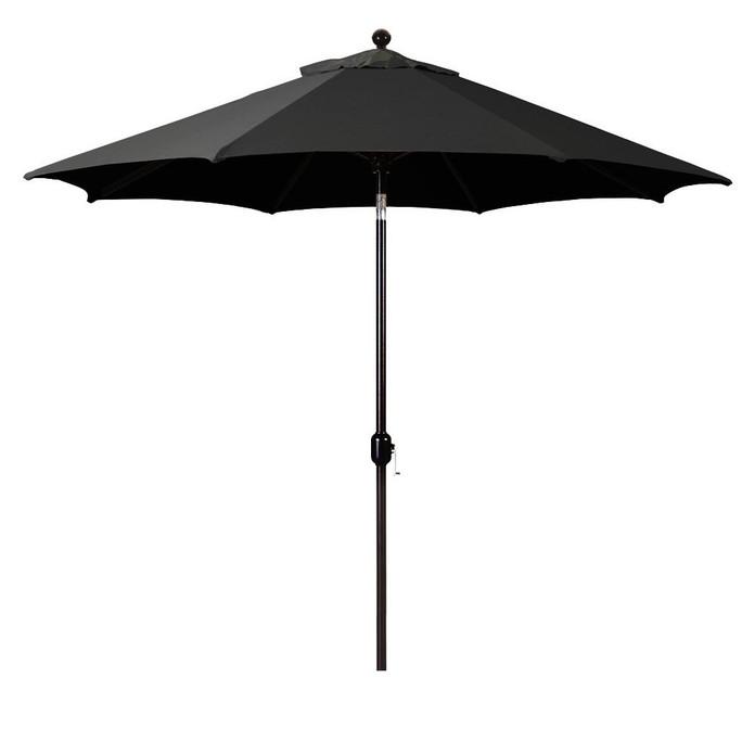 Galtech 9-Foot  (Model 737) Deluxe Auto-Tilt Umbrella with Bronze Frame and Sunbrella Fabric Black