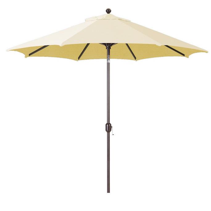Galtech 9-Foot (Model 737) Deluxe Auto-Tilt Umbrella with Antique Bronze Frame and Sunbrella Fabric Canvas