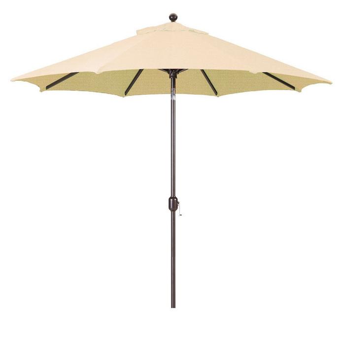 Galtech 9-Foot (Model 737) Deluxe Auto-Tilt Umbrella with Antique Bronze Frame and Sunbrella Fabric Antique Beige
