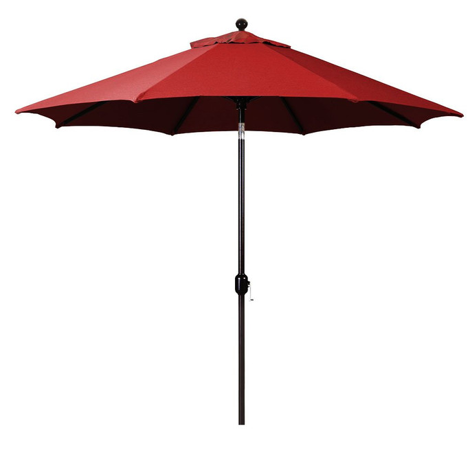 Galtech 9-Foot (Model 737) Deluxe Auto-Tilt Umbrella with Antique Bronze Frame and Sunbrella Fabric Jockey Red