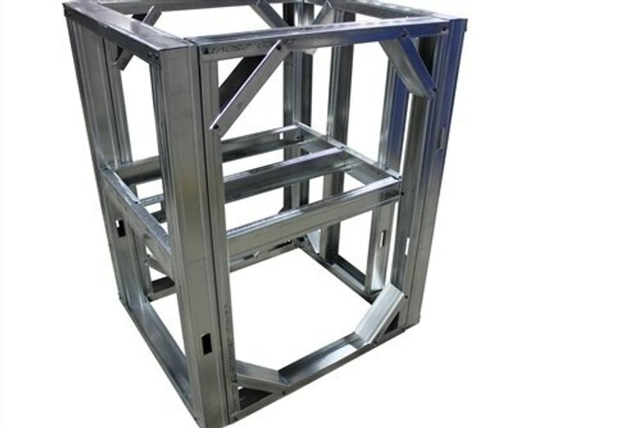 """DIYBBQ Quick Panel™ Open Shelf 4ft Modular Frame Section 36"""" Standard Height"""